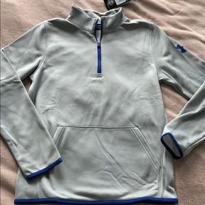 NWT Under Armour Boys Zip Neck Fleece Sweater L